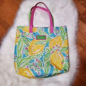Lilly Pulitzer Estee Lauder Lemons Floral Tote